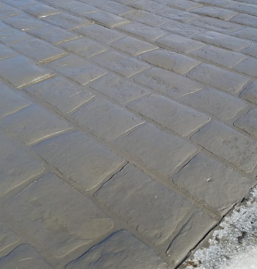 Stamped Concrete Cobblestones