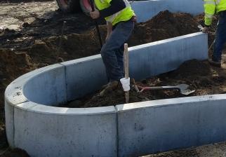 Installing Concrete Curbing